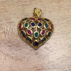 Jewelry - Heart multi gem pendant
